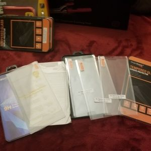 Brand new tempered glass screen lot